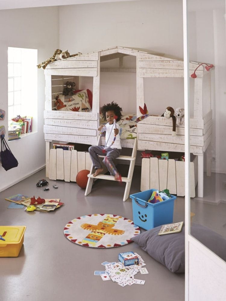 Lit Cabane Woody Wood DAlinéa Bed Kids Pinterest Decoration - Lit cabane woody wood alinea