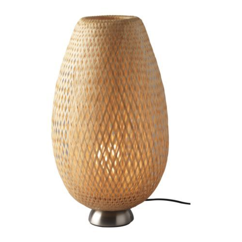 BÖJA Table Lamp IKEA Handmade Shade; Each Shade Is Unique. Shade Of Braided  Bamboo Creates Decorative Light Patterns On The Wall.