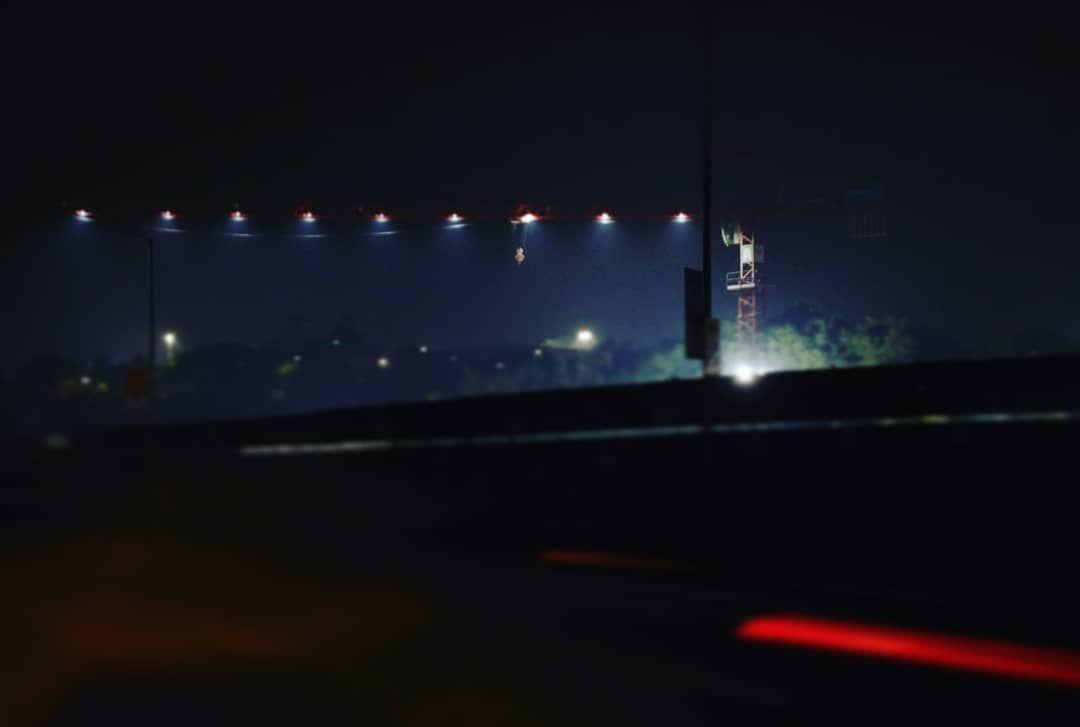 GUARDING THE DARK OF THE NIGHT        #night #crane