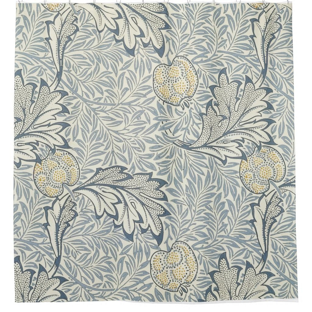 William Morris Apple Pattern Shower Curtain Shower Curtain