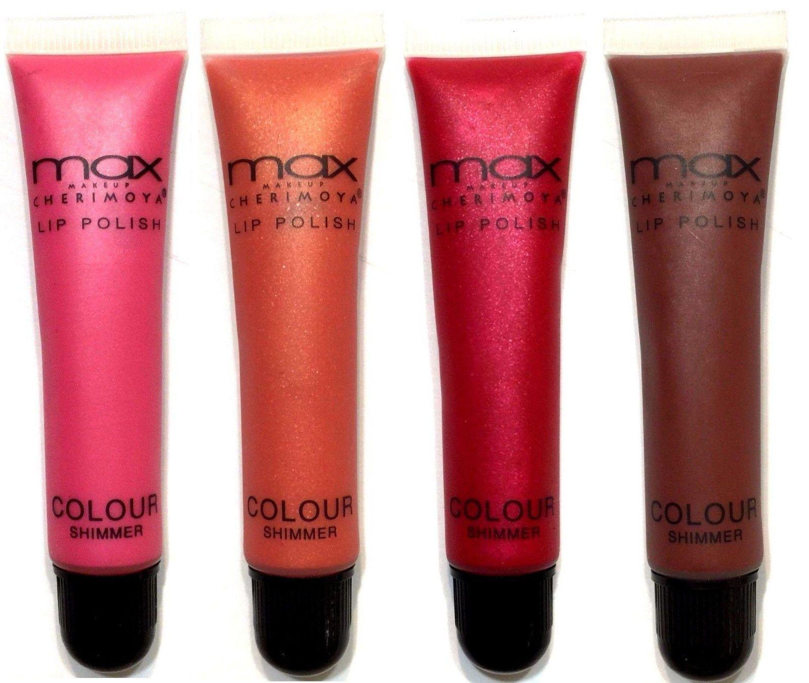 2 Pk MAX Cherimoya Makeup Gloss Lip Polish Colour Shimmer