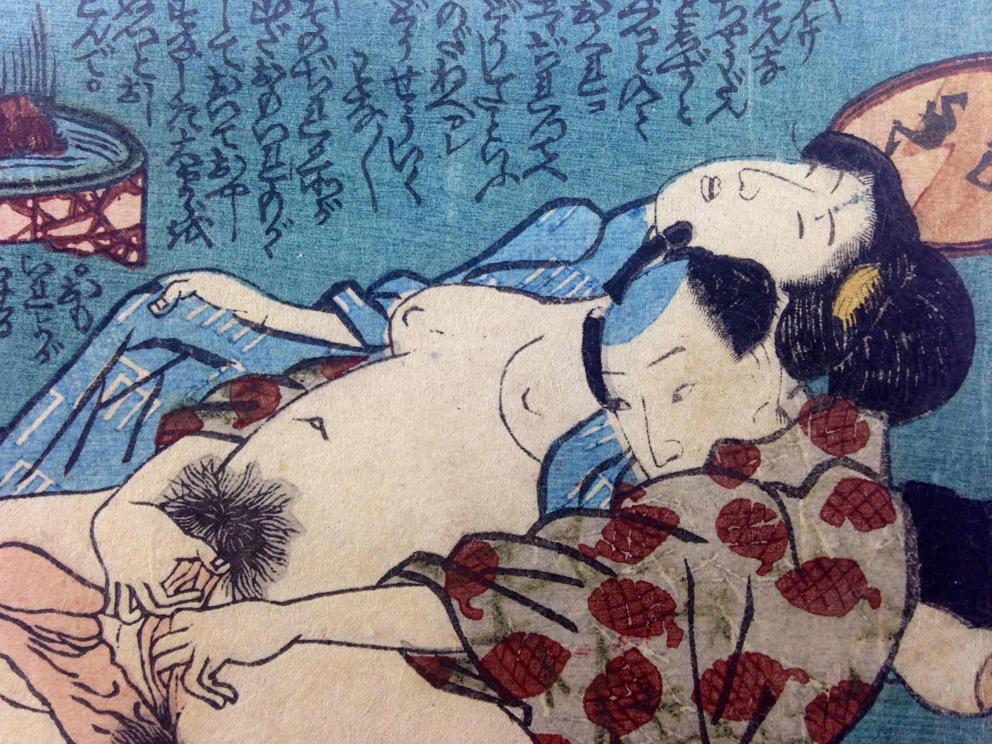 Erotic japanese print woodblock