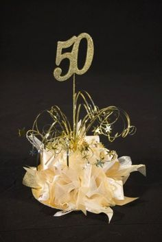 50th Birthday Centerpieces Party Table Decorations 60th