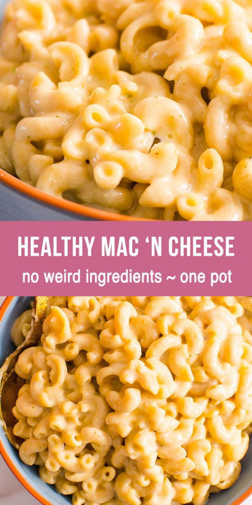 Healthy Mac and Cheese in one pot in 15 minutes. Creamy cheesy and flavorful and… – Carey&CleanEatingS