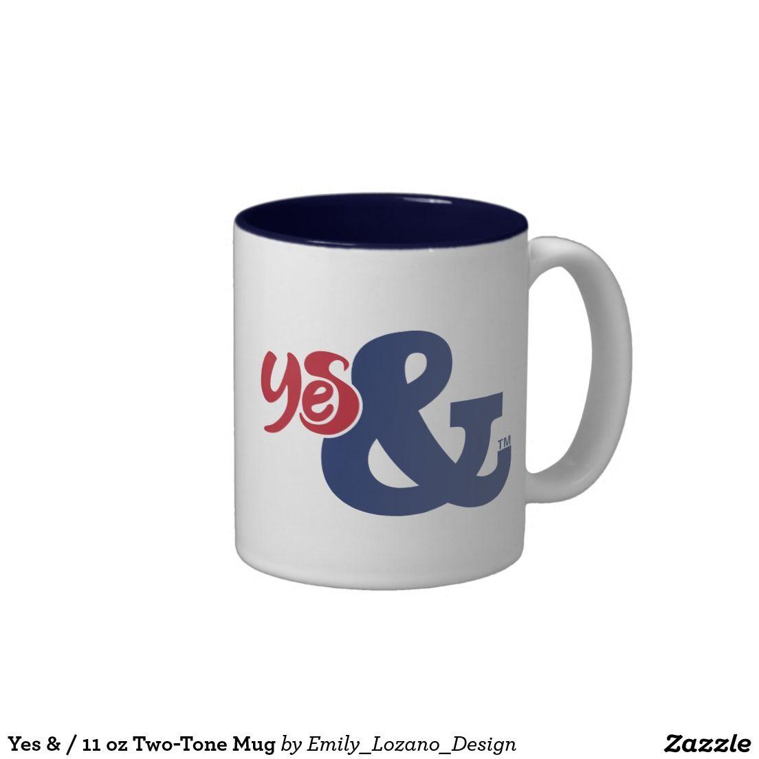 Yes & / 11 oz Two-Tone Mug