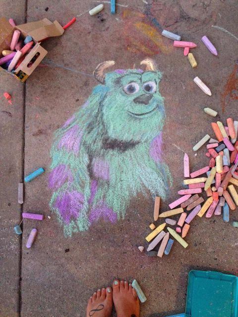 These Disney Sidewalk Chalk Drawings Are Too Cute for Words