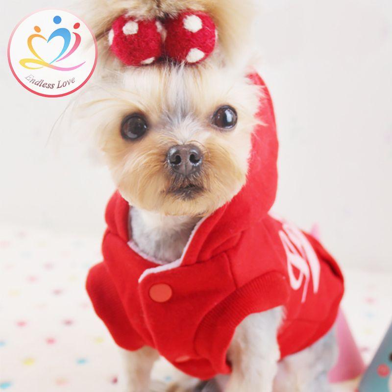 New arrivals XS-XL Spring Autumn hot Puppy Clothes Dog hoodies classy dogs apparel clothing Vestidos Cotton Pet Coat cat Jacket
