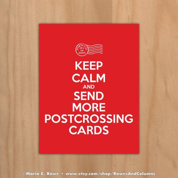 Kalmte bewaren & Stuur meer Postcrossing door RowesAndColumns