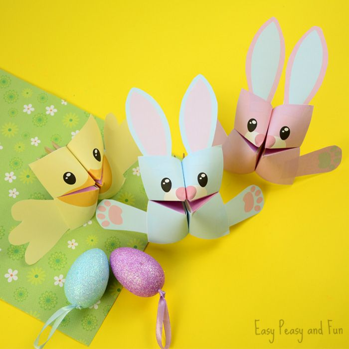Easter Cootie Catchers  Bunny And Chick Origami For Kids