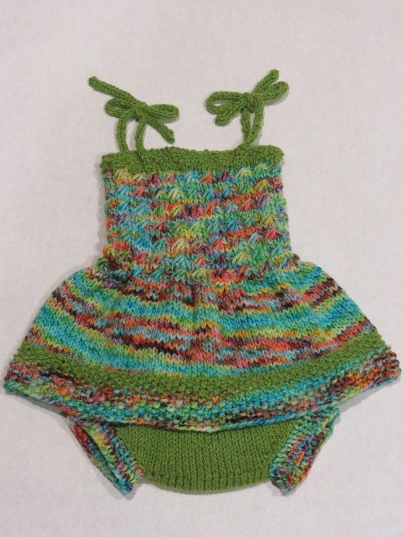 Hand Knit Wool Soaker and Dress by TheMotherofPurls on Etsy, $50.00