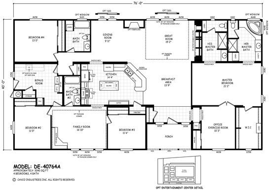 Floor Plan DE A Desert Edge Homes By Cavco West Cavco