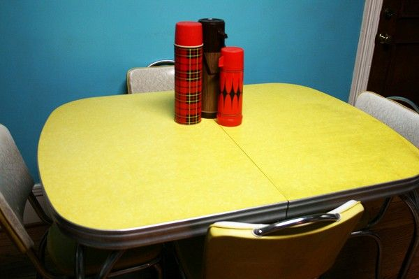 kitchens yellow formica table - Formica Kitchen Table