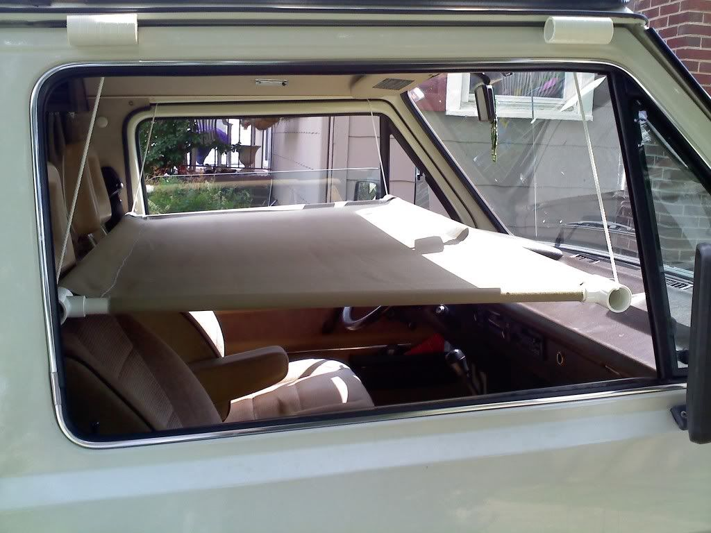 Homemade Hanging Bed For Front Seat Of Truck