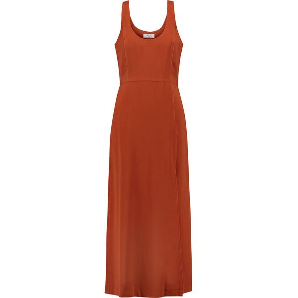 A.L.C. - Leesa Crepe Dress ($280) ❤ liked on Polyvore featuring dresses,  orange