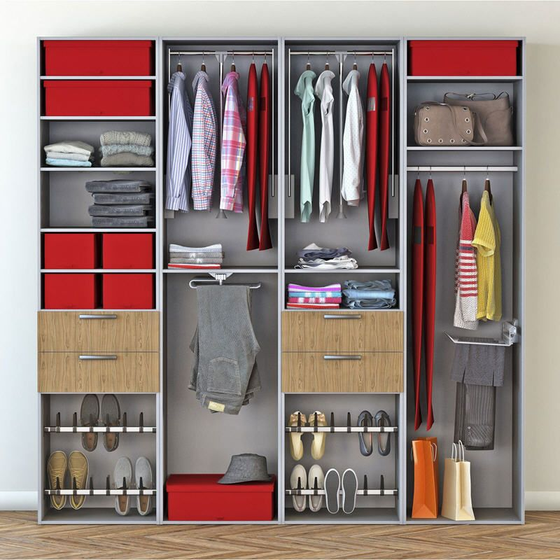 Dressing Spaceo Home Gris Meubles Pas Cher Dressing Walk In