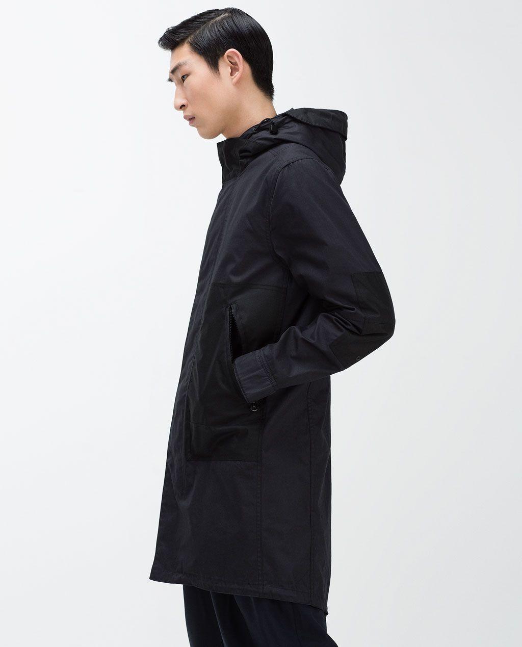Image 1 of LONG HOODED PARKA from Zara | cloak | Pinterest ...