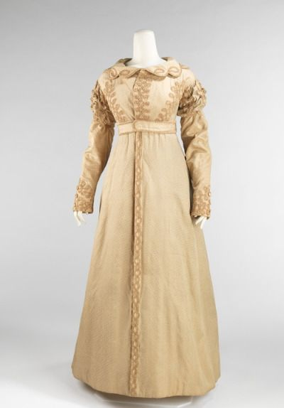 Coat Pelisse, c.1820 This is the quintessential women's outerwear garment of the early 19th century. Due to the nature of the fashions of the time,…