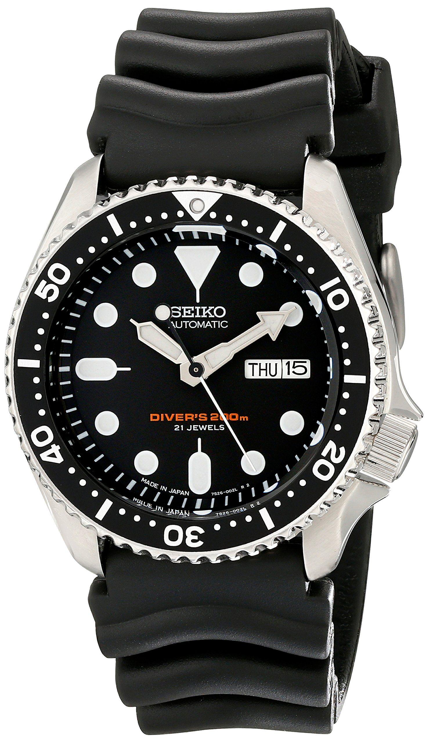 742fa5ade3d Seiko Automatic Diver s SKX007J1 SKX007J SKX007 200m Made in Japan Watch