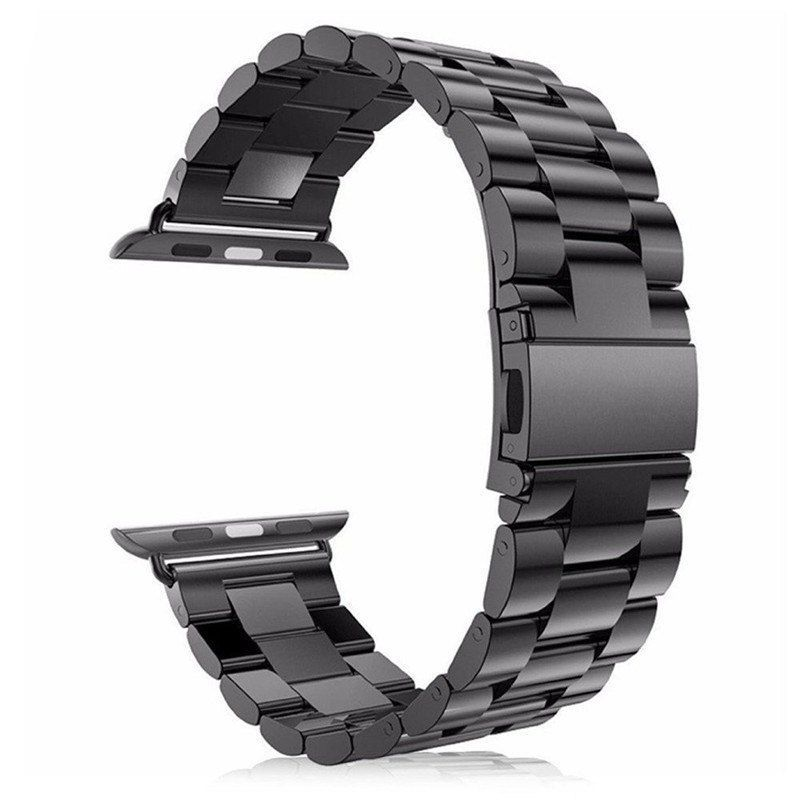 18mm Silver Stainless Steel Replacement Wrist Strap Band Bracelet for iwatch