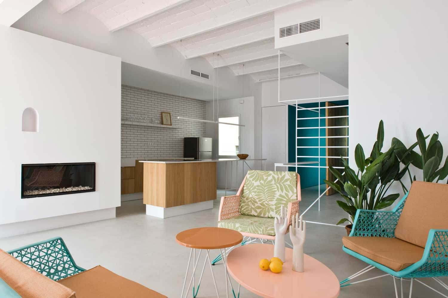 Pastel Interieur Barcelona : Barcelona holiday apartment by colombo and serboli architecture