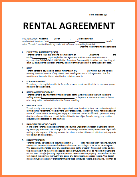 lease agreement template word s     75maingroup com  rent