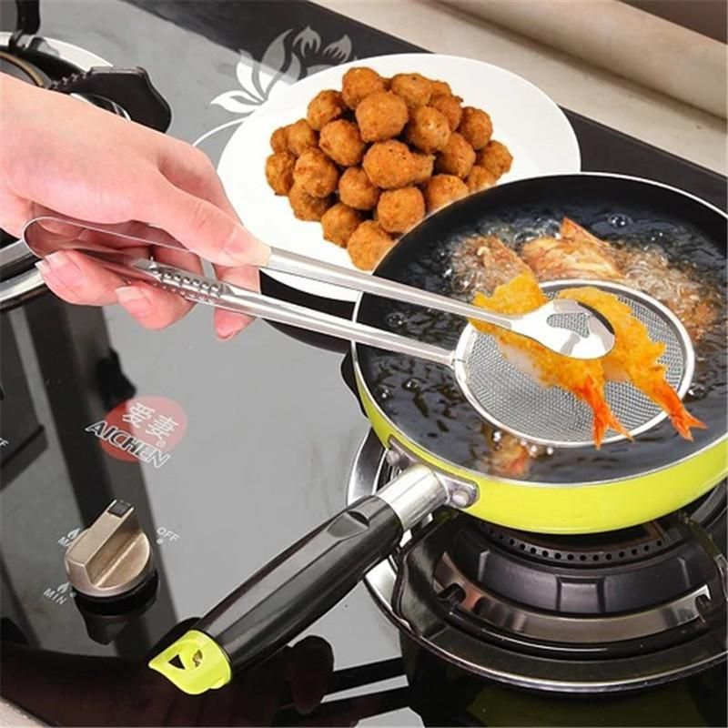 Filter Spoon Clip Food Oil-Frying Clamp Strainer Colander Baking Tool 8C