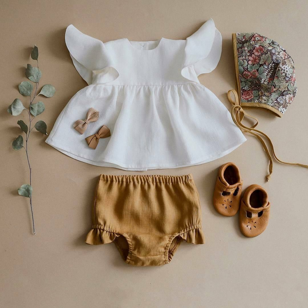 Newborn Baby Girls Striped Tops Dress Shorts Pants Briefs Outfits Clothes Summer Outfit Sleeveless Strap Flowers