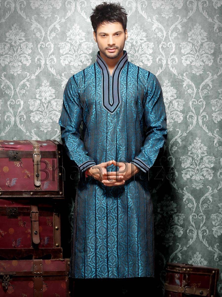 Dark Teal Kurta | Indian man suit | Pinterest | Dark teal, Sherwani ...