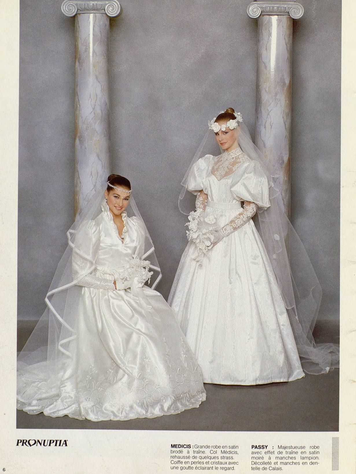 Pronuptia 1985 Hiver Retro Wedding Dresses Bridal Gowns Vintage Sheer Wedding Dress [ 1641 x 1231 Pixel ]
