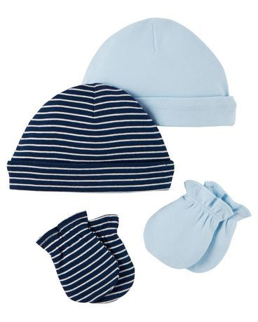Carters hats and scratch mittens. Retails for  8.24 at Walmart. Mittens f5a0d148e6f