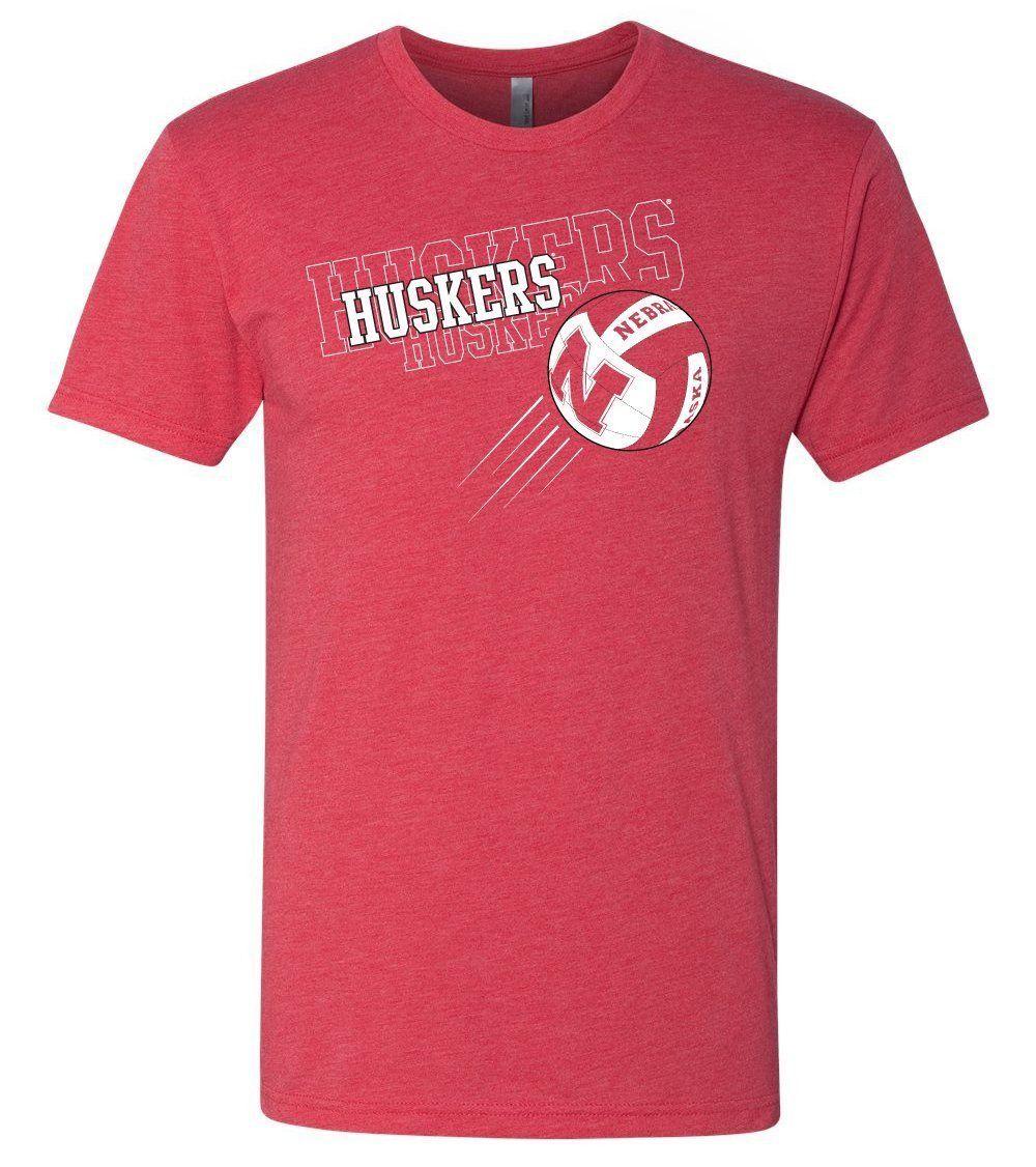 Premium Ultra Soft Tri Blend Nebraska Cornhuskers Volleyball Tee Shirts Volleyball National Championship Nebraska Cornhuskers