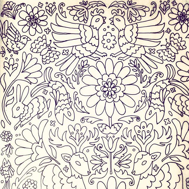 Another page for work. This one is inspired by otomi designs ...