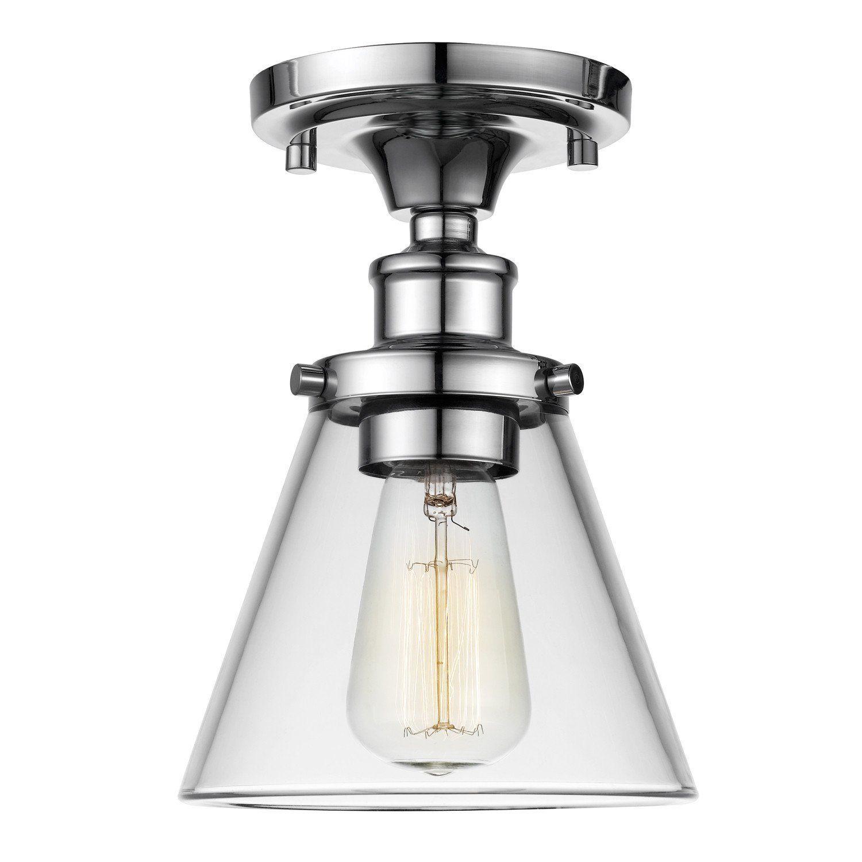 Globe Electric 65380 Mercer 1-Light Flush Mount Ceiling Light - - Amazon.com