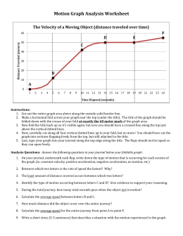 Motion Graph Worksheets With Answers The Best And Most ...