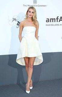 rosie huntingtonwhiteley wore a white crepe silk bustier