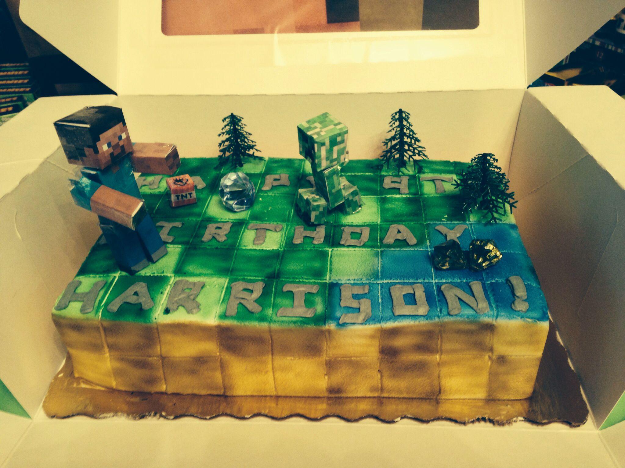 Publix Cake Designs For Birthdays : Minecraft publix s cake Party ideas Pinterest Cake ...