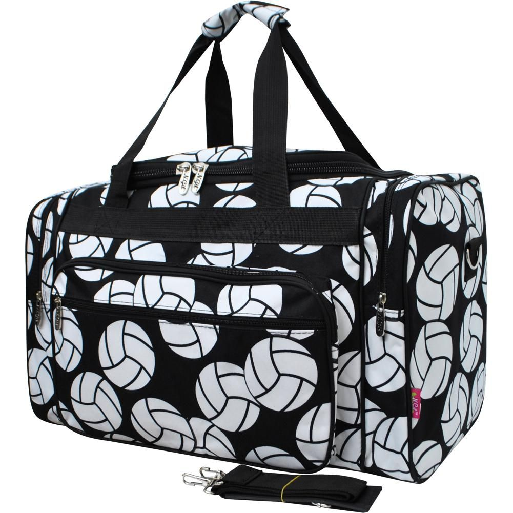 Volleyball Print 20 Inch Duffle Bag Blk