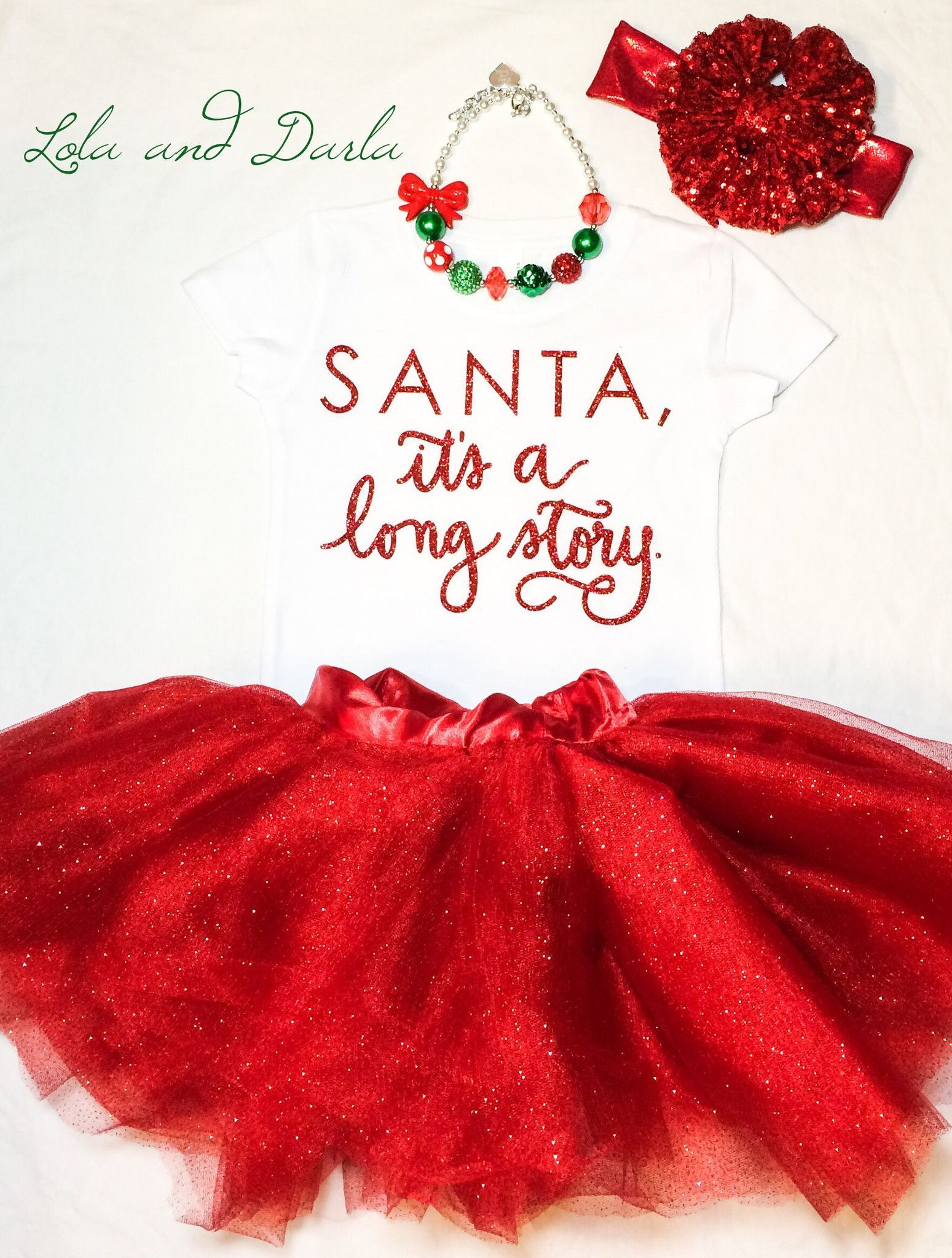 Santa, it's a long story baby bodysuit