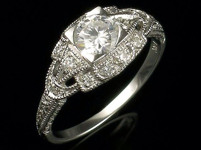 Beautiful distinctive antique wedding rings