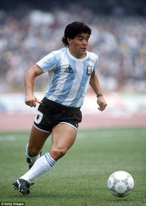 257367aec Diego Armando Maradona (Argentina) Nickname - El Pibe de Oro (the Golden  Boy). World Cup 1986. World Cup 86 Best Player. FIFA Player of the Century  2000.