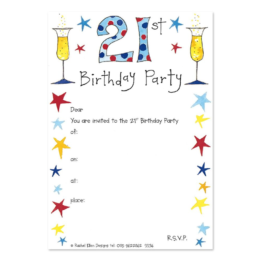 Awesome FREE 21st Birthday Invitations Wording | FREE Printable ...