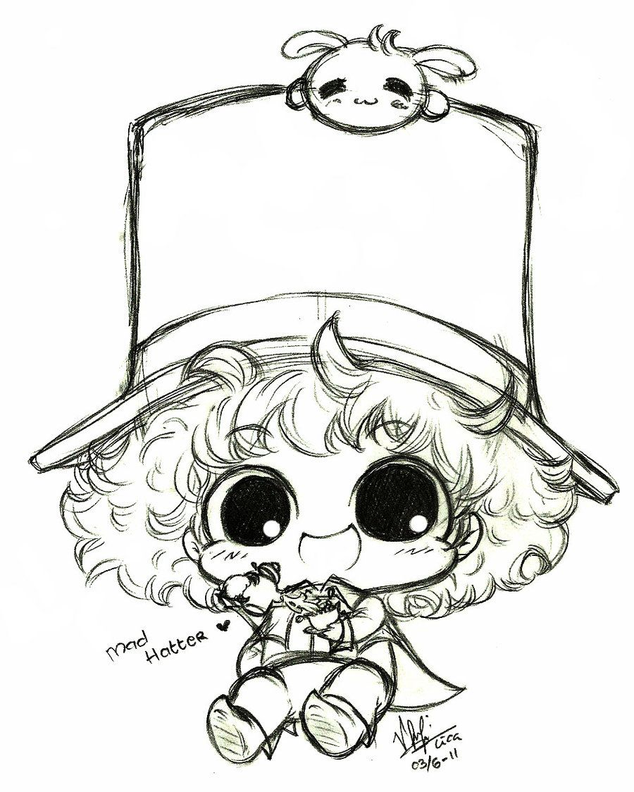 Mad Hatter Cartoon Mad Hatter Drawing Alice In Wonderland Illustrations [ 1124 x 900 Pixel ]