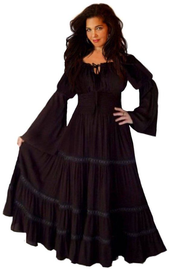da9aad499a 20% OFF Spring Sale  R524 Peasant Mexican Gypsy Dress Long Sleeve With Trim  Made To Order s m l xl 1