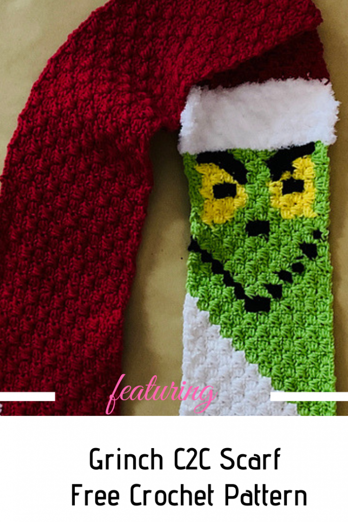 Fabulous Crochet Grinch Scarf Pattern To Stay Warm This Winter #grinchscarfcrochetpatternfree