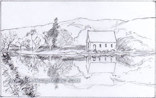 Paisajes Para Dibujar A Lapiz Faciles Paso A Paso Dibujo