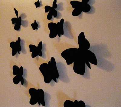 Make Your Own Wall Art With Fabric Interfacing And Double Sided Tape So Cute Fabric Butterfly Craft Lovers Butterfly Wall