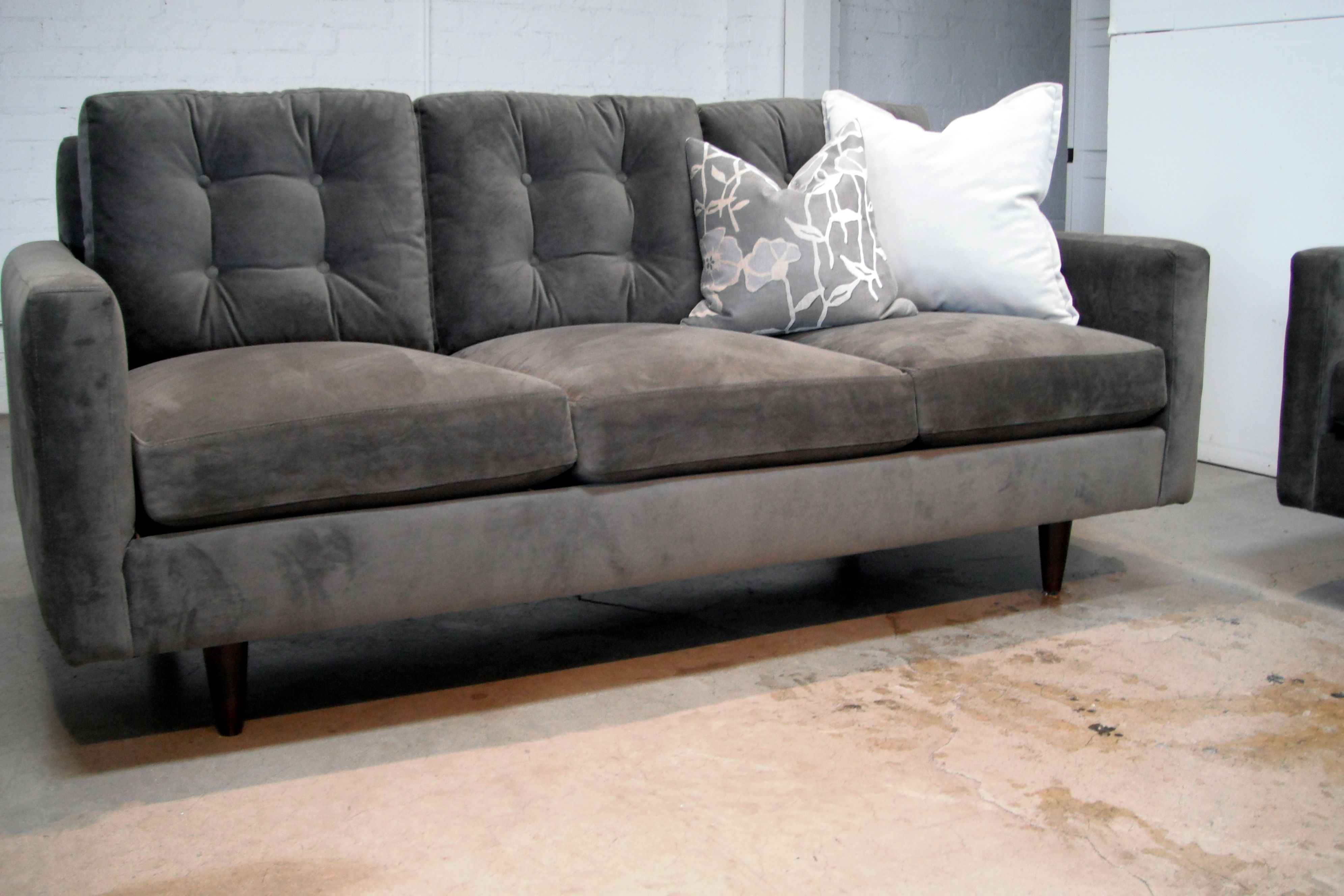 Custom Sofa Or Sectional Leather Fabric Ships Nationwide Showrooms