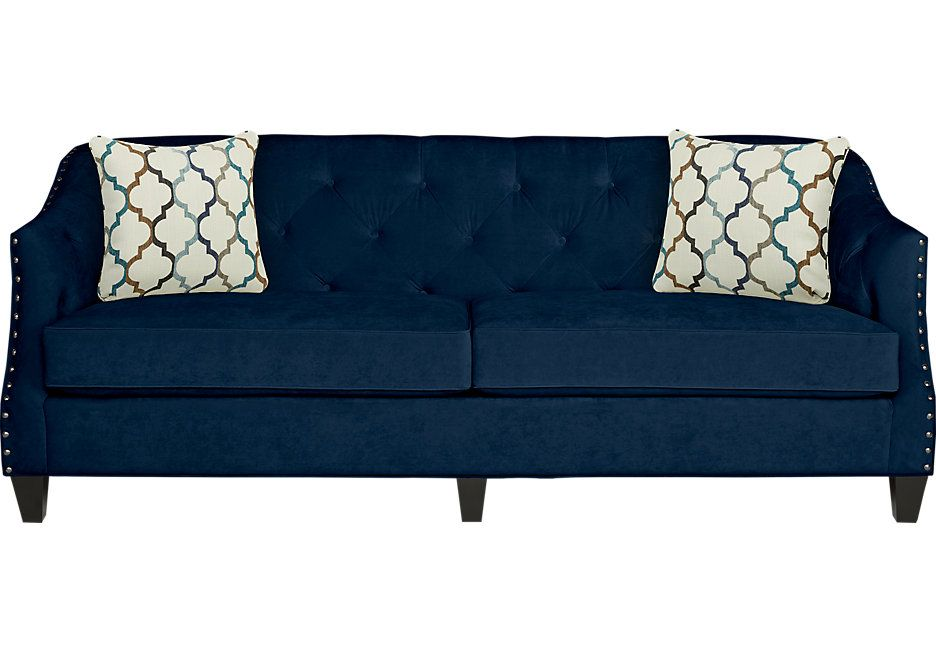 Sofia Vergara Monaco Court Navy Sofa New Home Ideas