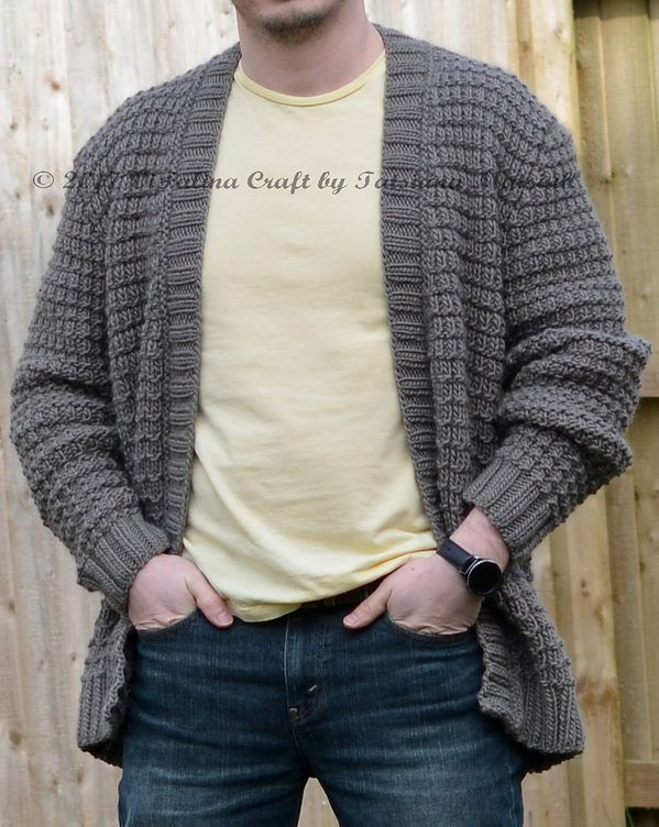Knitting Pattern For Gear Cardigan This Long Sleeved Open Cardigan