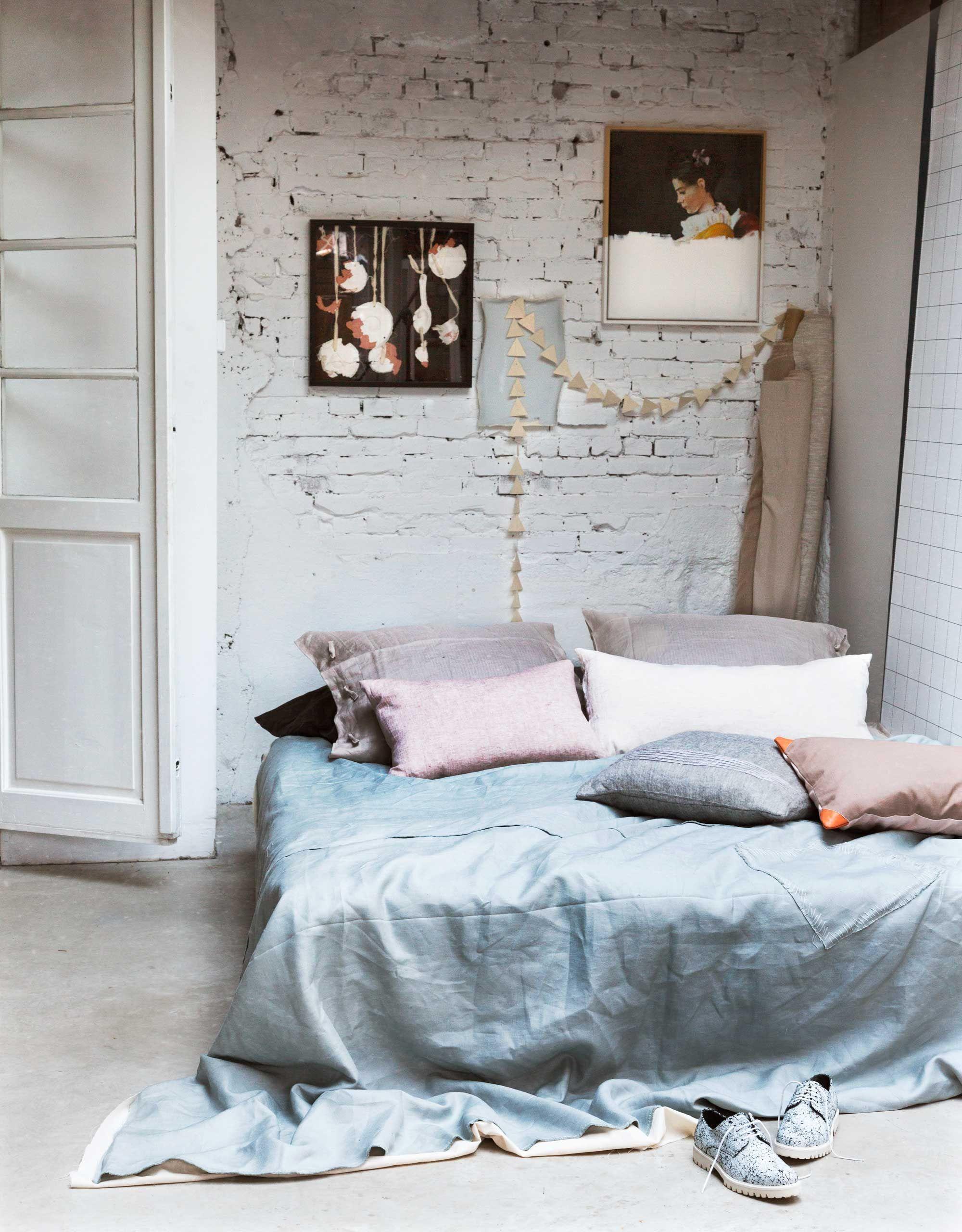 lichte slaapkamer bakstenenmuur | HOME IDEAS | Pinterest | Bedrooms ...